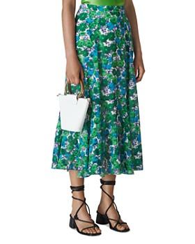 Whistles - Zinnia Floral-Print Midi Skirt