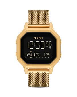 Nixon - Siren Milanese All-Black Mesh Bracelet Watch, 36mm