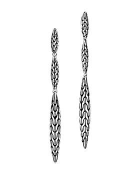 JOHN HARDY - Sterling Silver Classic Chain Small Spear Drop Earrings