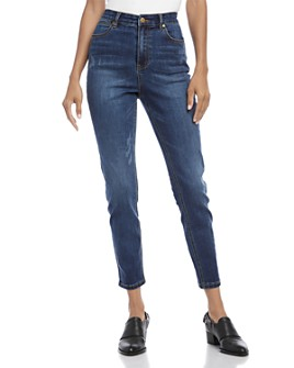 Karen Kane - Distressed Skinny Ankle Jeans in Denim