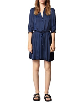 Zadig & Voltaire - Satin Tie-Belt Dress