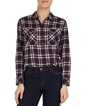 Gerard Darel Marla Plaid Button-Front Shirt