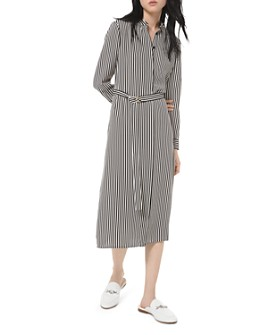 MICHAEL Michael Kors - Striped Midi Shirt Dress