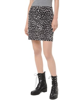 MICHAEL Michael Kors - Animal-Print Mini Skirt