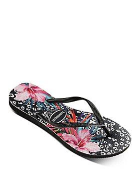 havaianas - Women's Slim Animal Floral-Print Flip-Flops