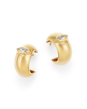 Zoe Chicco 14K Yellow Gold Diamond Thick Huggie Hoop Earrings
