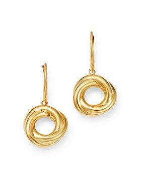 Bloomingdale's - Love Knot Drop Earrings in 14K Yellow Gold - 100% Exclusive