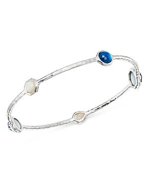 Ippolita Sterling Silver Wonderland Gemstone Station Bangle Bracelet