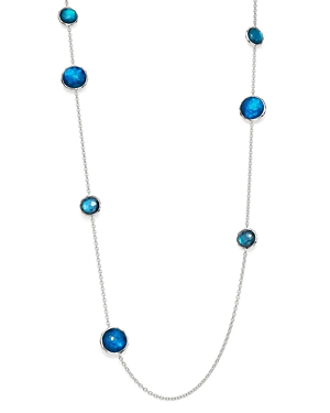 Ippolita Sterling Silver Wonderland Mother-of-Pearl Doublet in Blue Moon Station Necklace, 40