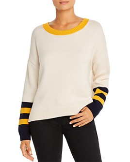 525 America - Color-Block Split-Back Sweater