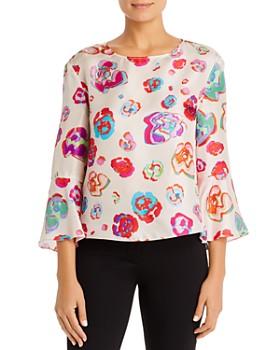 Armani - Floral Print Silk Blouse