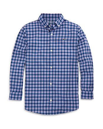 Vineyard Vines - Boys' Plaid Performance Dress Shirt - Little Kid, Big Kid