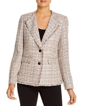 KARL LAGERFELD Paris - Fringed Tweed Blazer