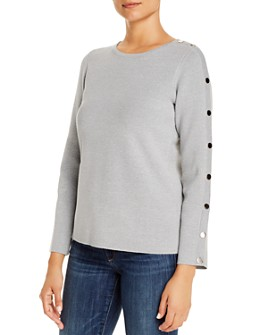 T Tahari - Snap-Detail Sweater