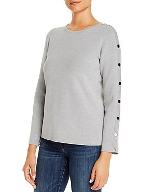 T Tahari Snap-Detail Sweater