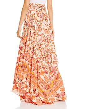 Amur - Nova Silk Floral-Print Maxi Skirt