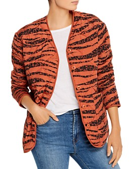 Anine Bing - Andy Quilted Tiger-Stripe Jacket