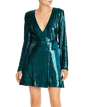 Ramy Brook - Sequined Wrap Dress - 100% Exclusive