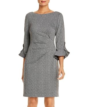 Karl Lagerfeld Paris Bell-Sleeve Herringbone Dress