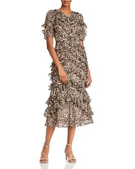 Rebecca Taylor - Ruffled Lynx Midi Dress