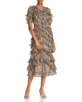 Rebecca Taylor - Ruffled Lynx Midi Dress