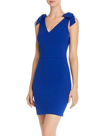 AQUA - Bow-Accented Bodycon Dress - 100% Exclusive