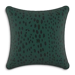 Sparrow & Wren Down Pillow in Leopard Emerald, 20 x 20