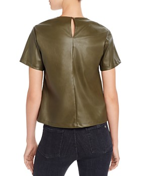 Lucy Paris - Faux Leather Top - 100% Exclusive