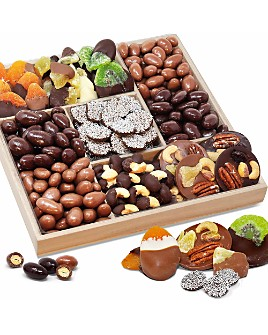 Chocolate Covered Company - Spectacular Belgian Chocolate Covered Dried Fruit and Nut Gift Tray