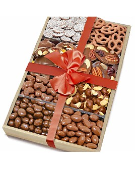 Chocolate Covered Company - Milk Belgian Chocolate Covered Nut & Snack Gift Tray, Set of 2