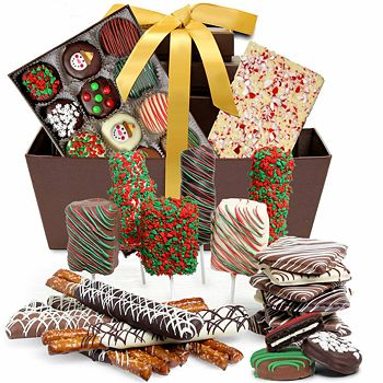 Chocolate Covered Company - Ultimate Holiday Belgian Chocolate Covered Gift Basket
