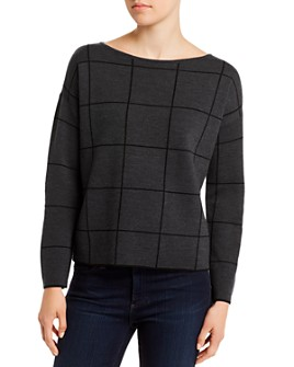 Eileen Fisher Petites - Wool-Blend Boxy Boatneck Top