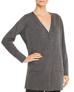 Eileen Fisher Petites - Merino Wool V-Neck Cardigan - 100% Exclusive