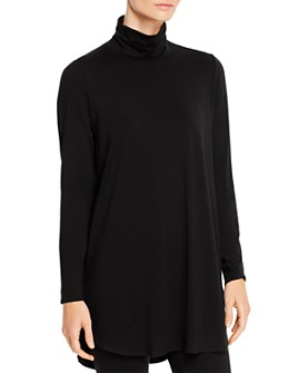Eileen Fisher Petites - Ruched Turtleneck Tunic