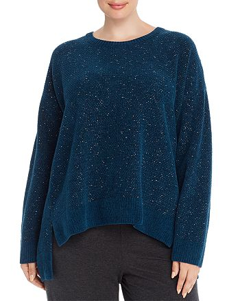 Eileen Fisher Plus - Organic Cotton Boxy Sweater