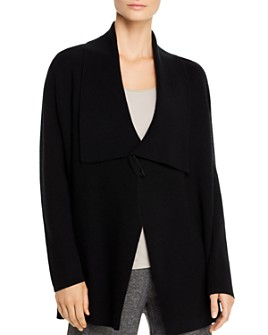 Eileen Fisher Petites - Merino Wool Safety-Pin Cardigan - 100% Exclusive