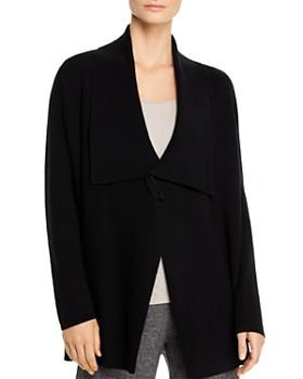 Eileen Fisher Petites - Merino Wool Safety-Pin Cardigan - 100% Exclusive