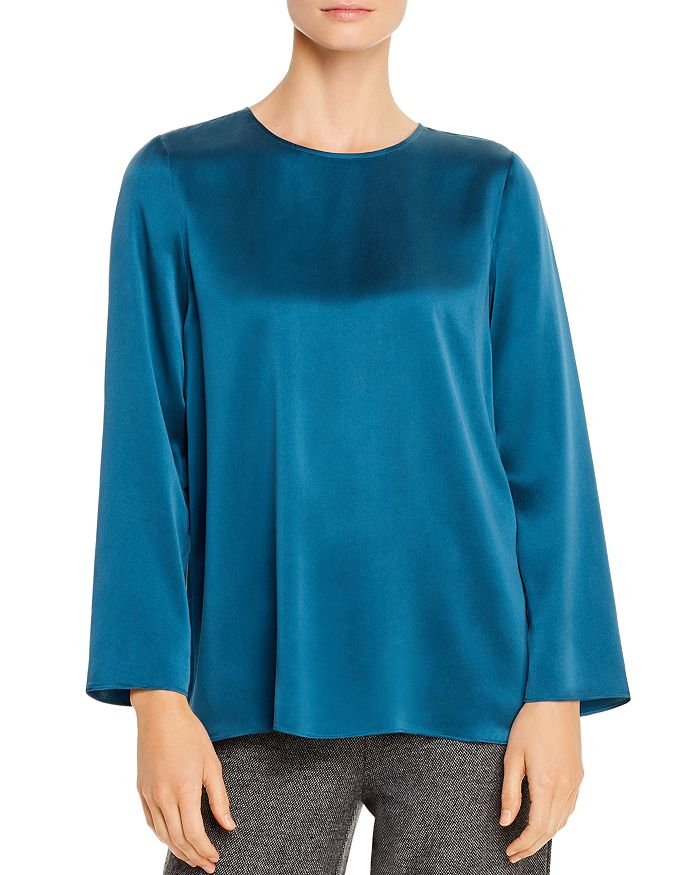 Eileen Fisher Petites - Silk Boxy Top - 100% Exclusive