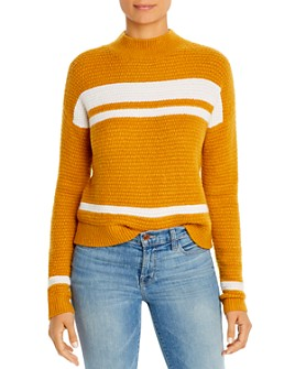 Design History - Color-Block Mock-Neck Sweater
