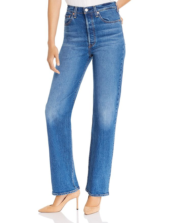 Levi's - Rib Cage High Rise Straight-Leg Jeans in Charleston Vintage