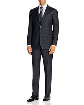 Armani - Checked Virgin Wool Regular Fit Suit