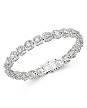 Bloomingdale's - Diamond Halo Tennis Bracelet in 14K White Gold, 8.0 ct. t.w. - 100% Exclusive