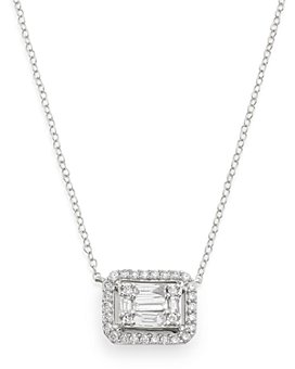 Bloomingdale's - Diamond Mosaic Pendant Necklace in 14K White Gold, 0.75 ct. t.w. - 100% Exclusive