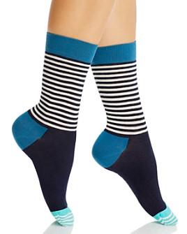 Happy Socks - Ladies Half Stripe Sock