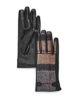 Barbour - Galloway Plaid-Panel Gloves