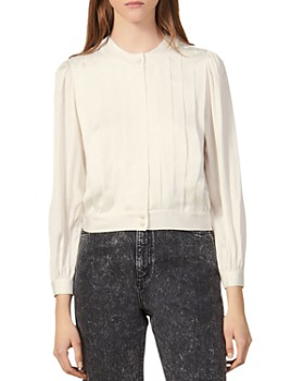 Sandro - Dalina Pleated Blouse