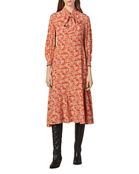 Sandro - Lanelle Paisley Silk Midi Dress