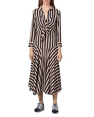 Sandro Vilna Striped Maxi Dress