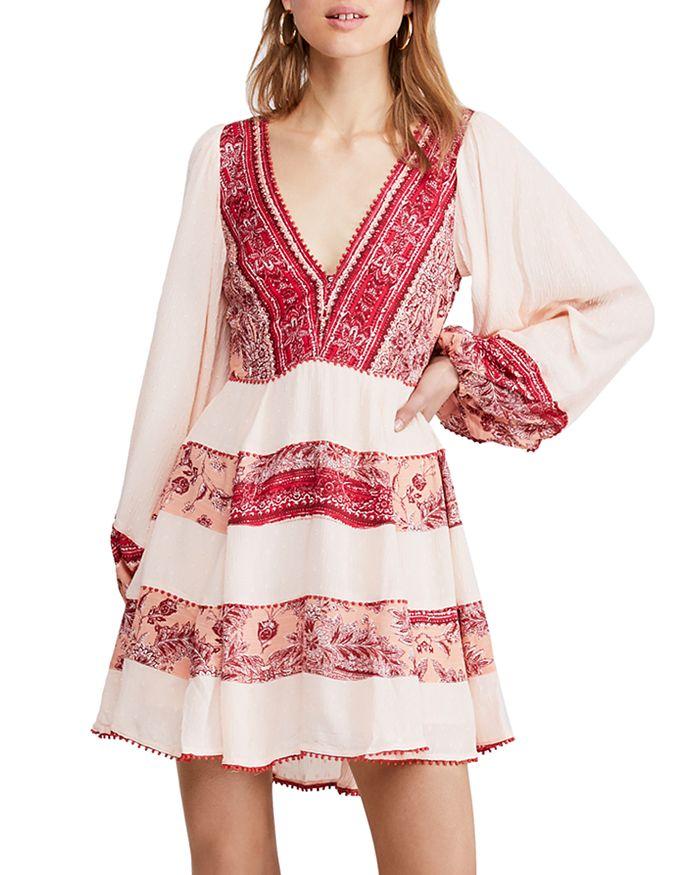 Free People - My Love Printed & Textured Mini Dress