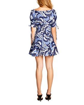 Alice McCall - Paisley Tie-Detail Mini Dress